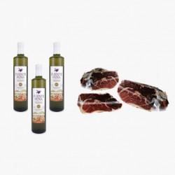 Pack Huile d'olive bouteille + Épaule Label Vert